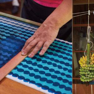 〈Doucatty〉手巾,沖繩最佳伴手禮。近距離特寫色彩繽紛令人雀躍的製作現場——Hanako Taiwan