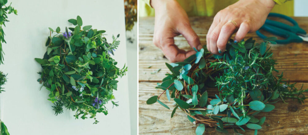 圈出綠意新氣象!嘗試DIY編一圈療癒身心的「香草花圈」,讓居家空間充滿季節氣息-Hanako Taiwan