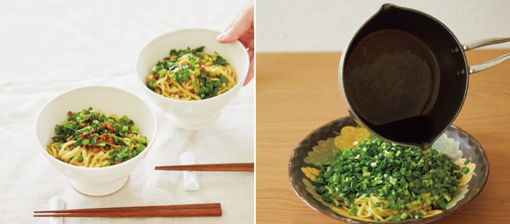 麵食控的超簡單食譜再加一!吃膩了外食,試著在家跟著料理達人私藏作法烹調韭菜拌麵,兼顧美味與營養-Hanako Taiwan